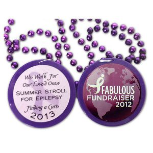 Full color awareness walk mardi gras beads